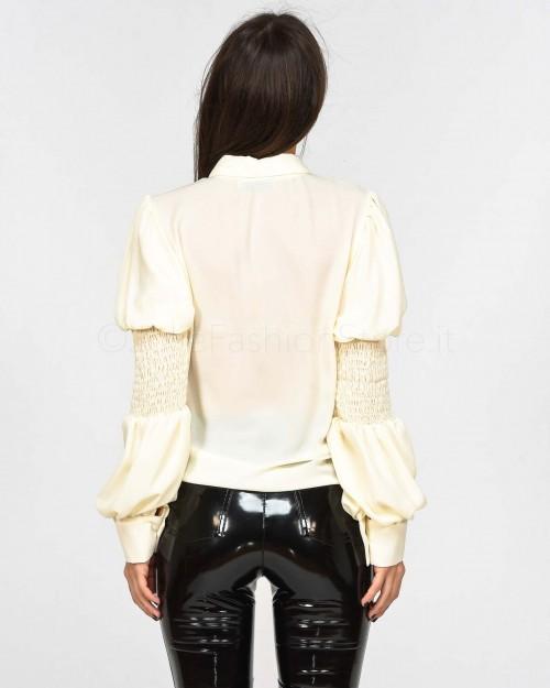 Haveone Camicia color Burro Maniche Arricciate  CSO-D022-011