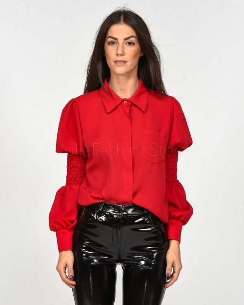 Haveone Camicia color Rosso Maniche Arricciate  CSO-D022-003
