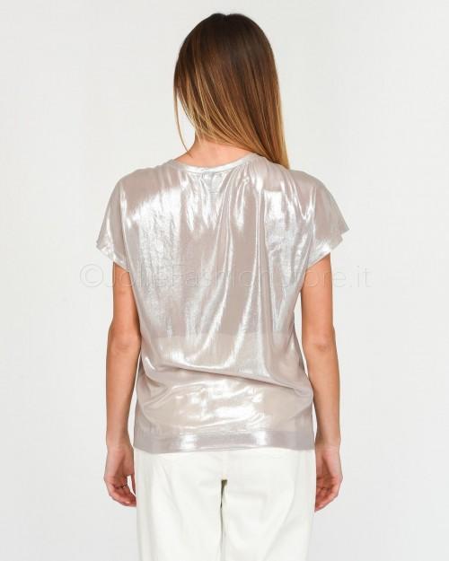 Pinko T-Shirt in Georgette Laminata  1G14WD-I17