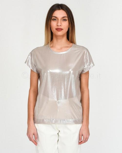 Pinko T-Shirt in Georgette Laminata