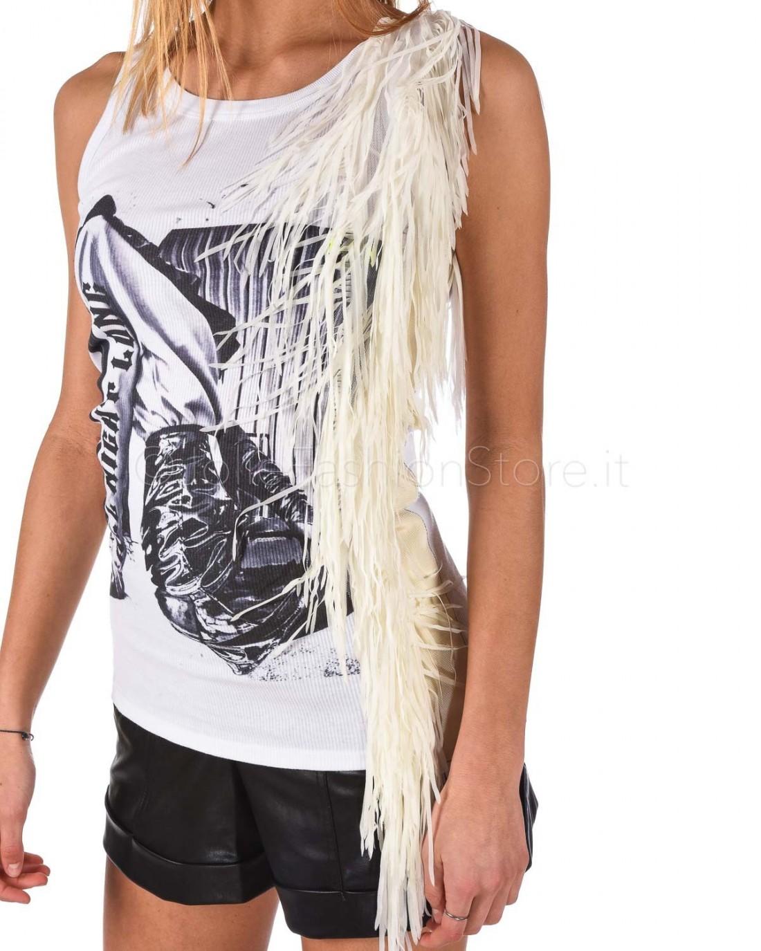 Gina Gorgeous Top con Frange  GI190715/A