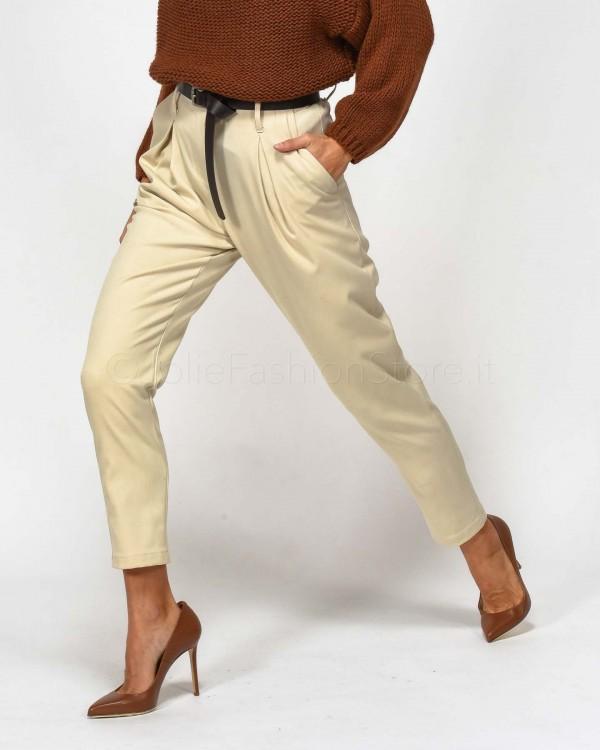 Haveone Pantalone con Cintura Avorio  PCA-D071-011