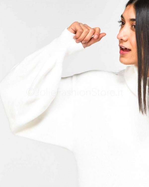 Patrizia Pepe Jeans Bianco a Vita Alta 8J0791/A3DT/W146/000