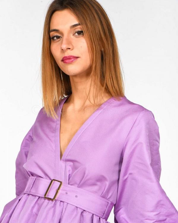 Pinko Camicia in Seta Rossa 1G1400-7312