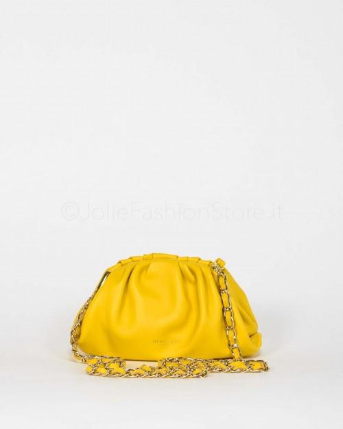 My Best Bags Borsa Mini Pouch In Pelle Gialla