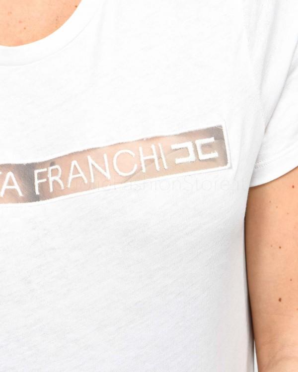 Elisabetta Franchi Pochette a Mano in Vernice Nera BS32A92E2-1