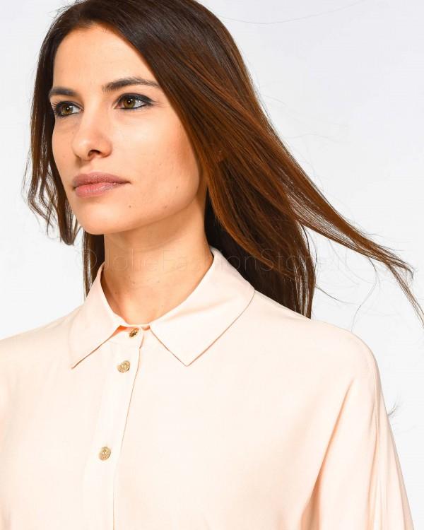 Elisabetta Franchi Pantalone Bianco con Bottoni PA26791E2