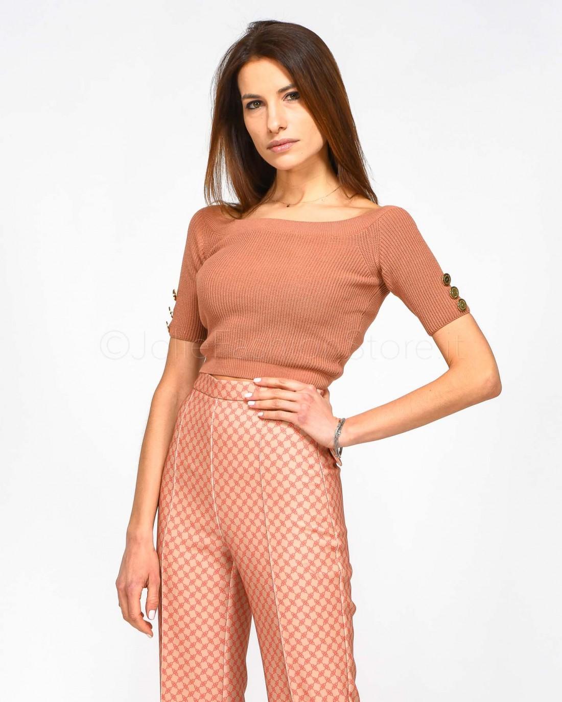 Pinko Pantalone Skinny in Denim Argento Stampa Cocco 654172e468b