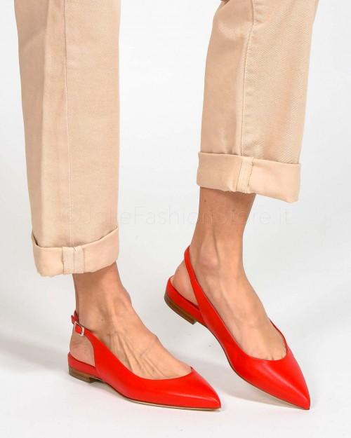 Sergio Levantesi Ballerina Chanel In Pelle Rossa