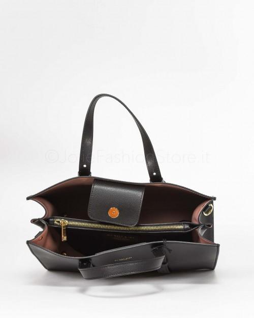 My Best Bags Borsa Shopper In Pelle Nera  7002-NERO