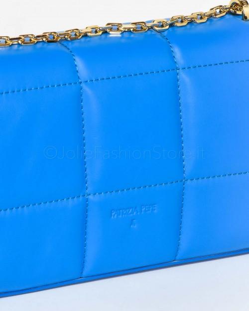 Patrizia Pepe Borsa Tracolla Astral Blue Trapuntata  2VA159A9D0N-C859