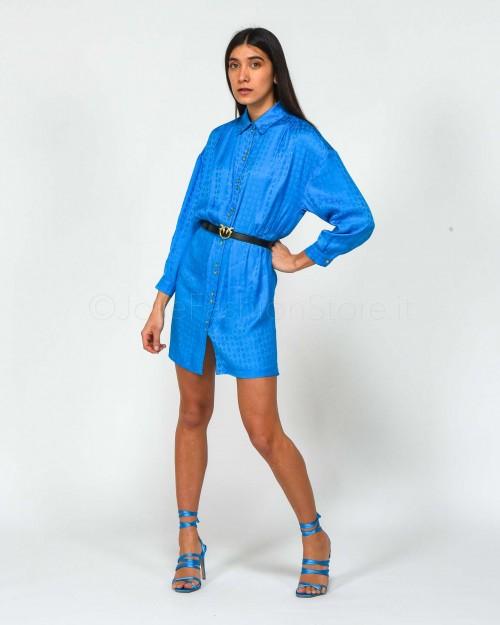 Pinko Abito a Camicia Blu Imperiale