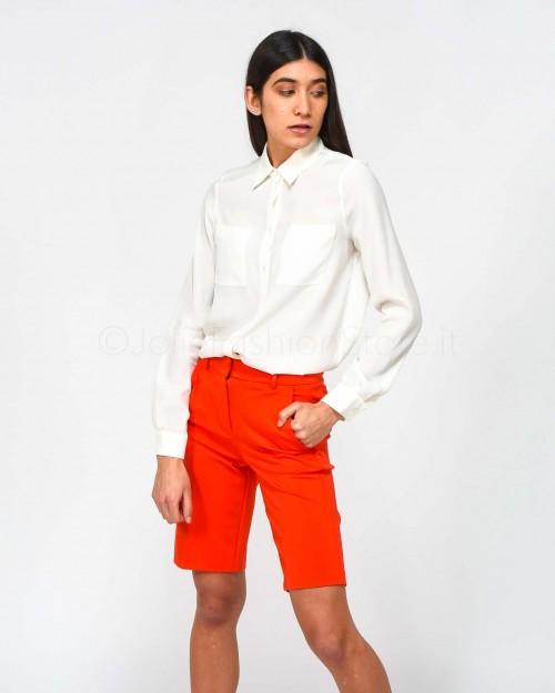 Pinko Camicia Bianca Fluida con Tasche