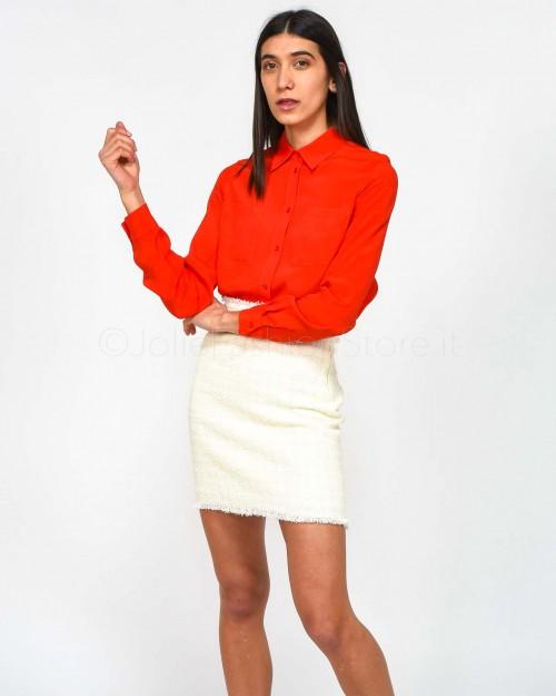 Pinko Camicia Rosso Collera Fluida con Tasche
