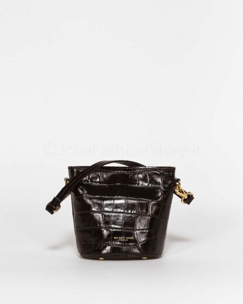 My Best Bags Borsetta In Pelle Stampa Cocco Nera