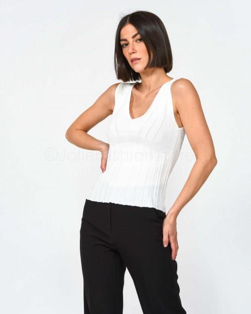 Pinko Canottiera tricot Bianca
