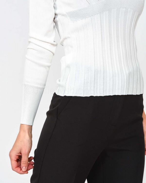 Elisabetta Franchi T-Shirt con Logo Bianca MA12992E2