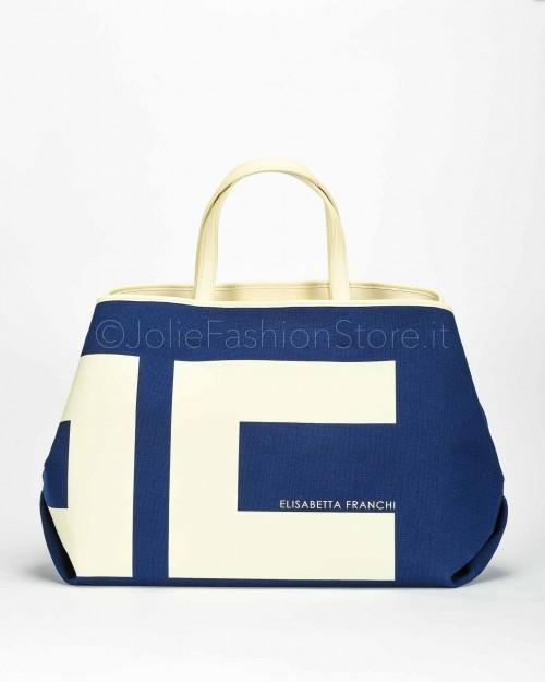 Elisabetta Franchi Shopper con Maxi Logo  BS04A01E2-Y79