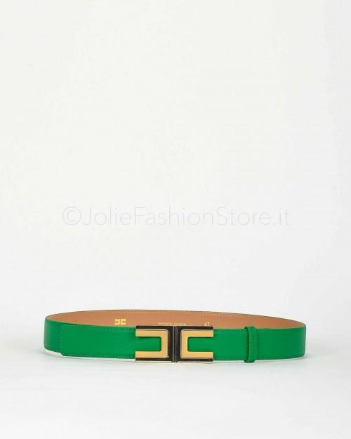Elisabetta Franchi Cintura con Logo Verde