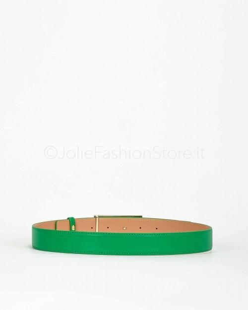 Elisabetta Franchi Cintura con Logo Verde  CT02S01E2-124
