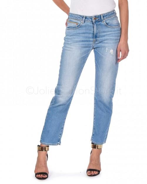 Care Label Jeans BoyFriend Lavaggio Chiaro