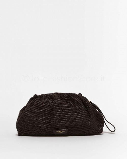 My Best Bags Borsa Pouch In Paglia Nera