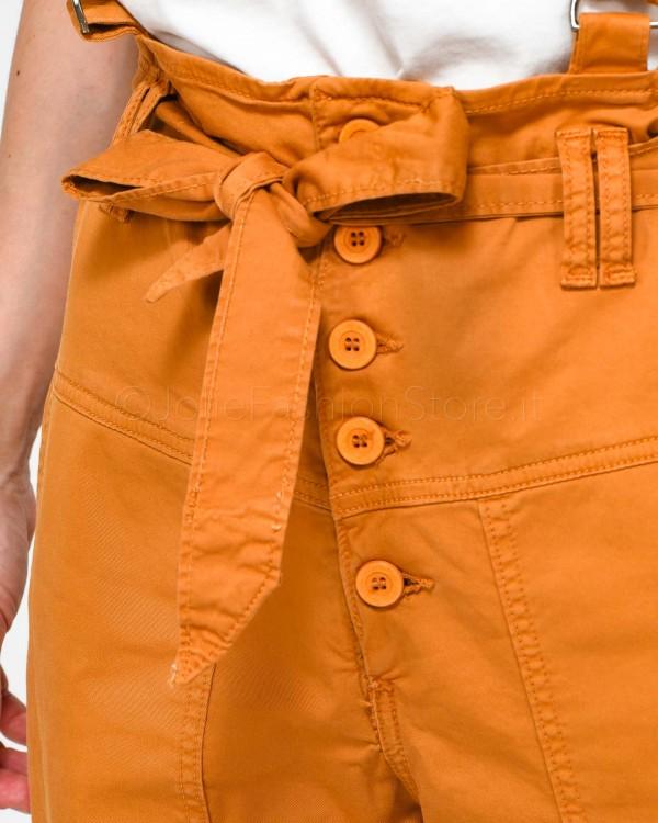 Pinko T-Shirt in Raso di Seta Blu 1G1419-Y4FG FARISA