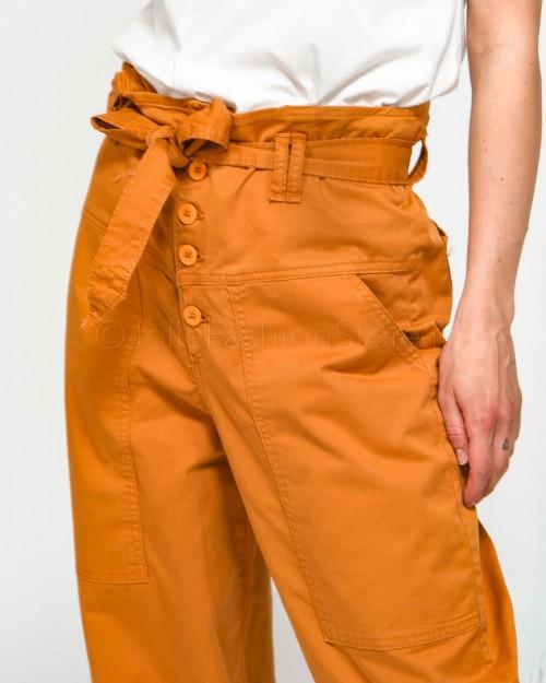 Dixie Pantalone con Bretelle Cuoio  Y142R006-CUOIO