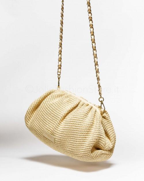 My Best Bag Borsa Pouch in Paglia Bianca  7011-BIANCA