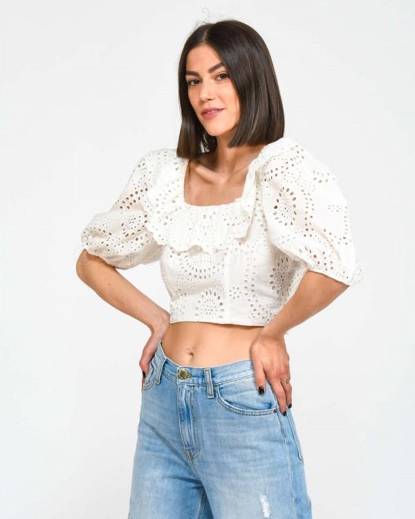 Patrizia Pepe Jeans Basic Sfrangiato sul Fondo 8J0509