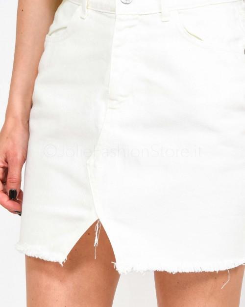 Haveone Minigonna in Jeans Bianca  GGZ-E022-011