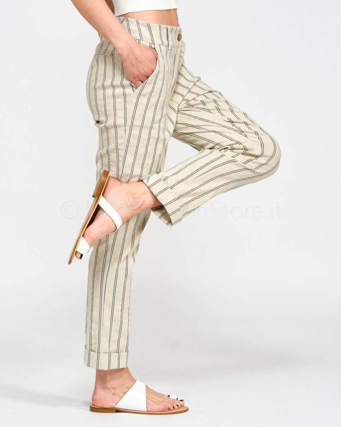 Background Pantalone Maschile Righe Beige  P21YW223D-BEIGE