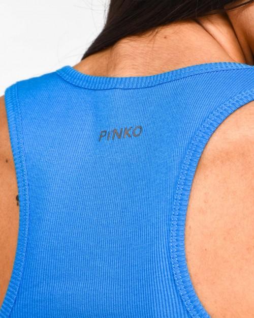 Pinko Canottiera Tricot Azzurra  1G15X5-Y66A-G26