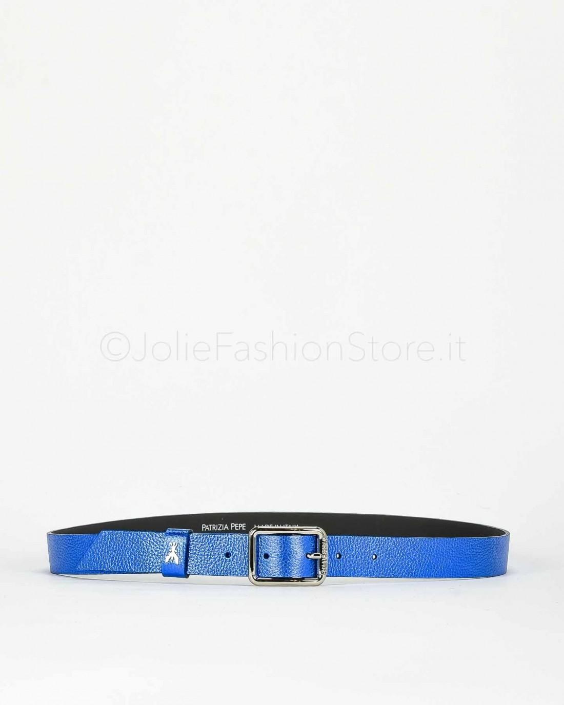 Patrizia Pepe Cintura in Pelle 2 Cm Blu  2V6408-C804