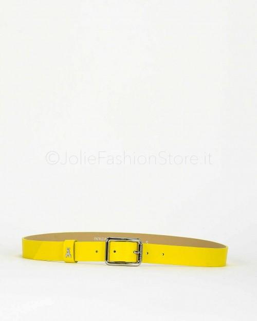 Patrizia Pepe Cintura in Pelle 2 Cm Gialla