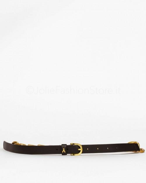 Patrizia Pepe Cintura Black/Antique Gold