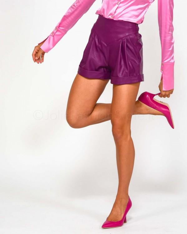 Pinko Pantalone Ciclista con Banda Laterale Lurex 1G14DA