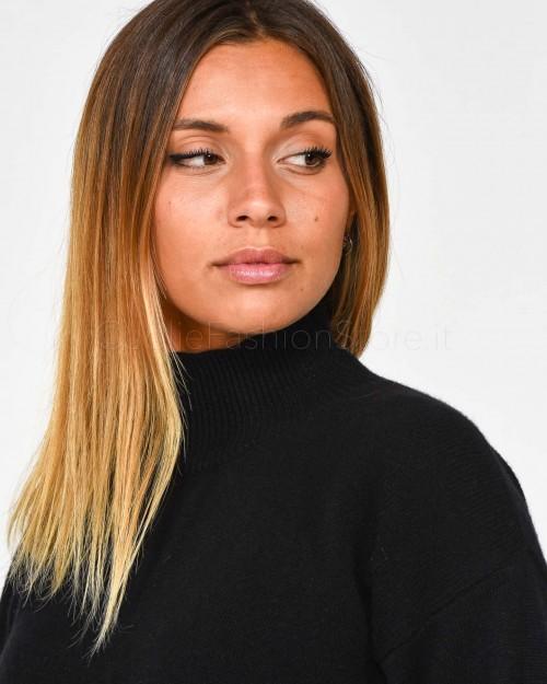Nira Rubens Sneakers in Pelle Bianca con Cuore Nero Glitter DACU167