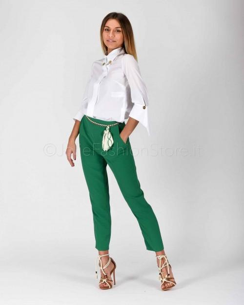 Elisabetta Franchi Pantalone con Catena Verde