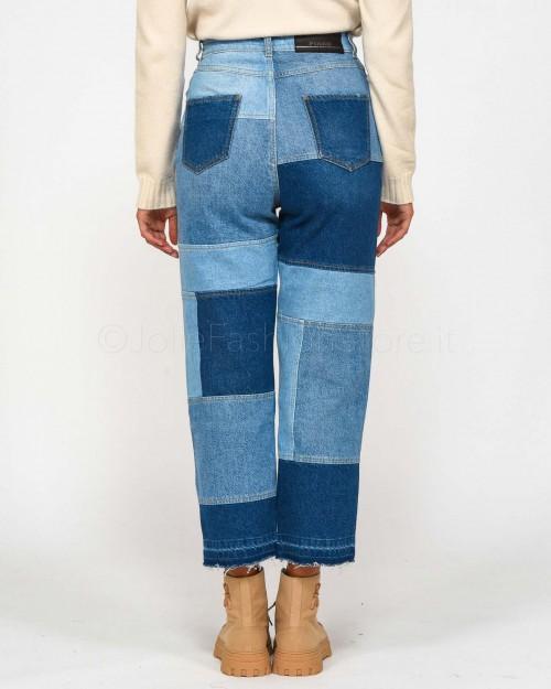 Pinko Jeans Patchwork Mult.Blu/Azzurro  1J10SC-Y7JA-EE3