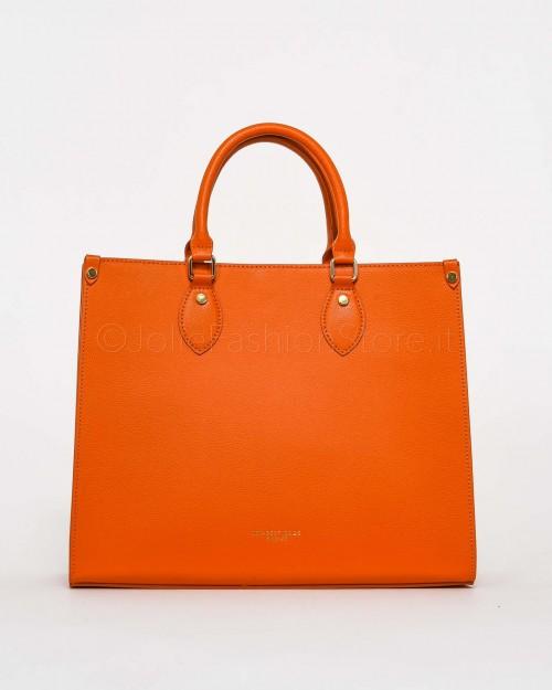 My Best Bags Borsa Shopper in Pelle Arancione