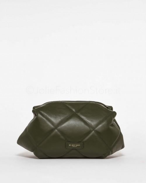 My Best Bags Borsa Pochette in Pelle Verde
