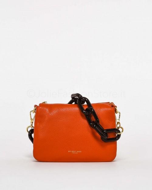 My Best Bags Borsa Pochette Mini con Catena Arancio