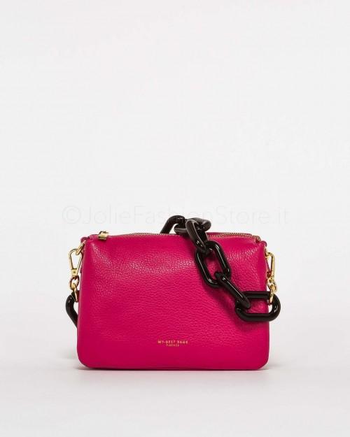 My Best Bags Borsa Pochette Mini con Catena Fucsia