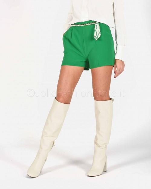 Elisabetta Franchi Short con Catena Verde  SH04301E2-124