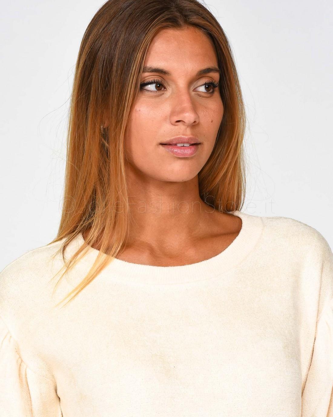 Le Volière T-Shirt con Paillettes Pyton e Stampa Bianca WW19T061PY-BIANCO