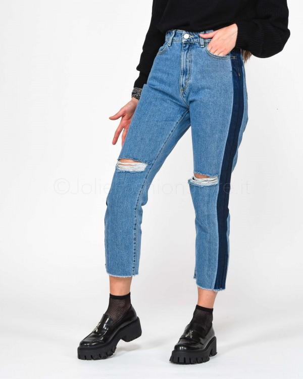 Icon Denim Jeans con Banda Scura  JESSI-ID319
