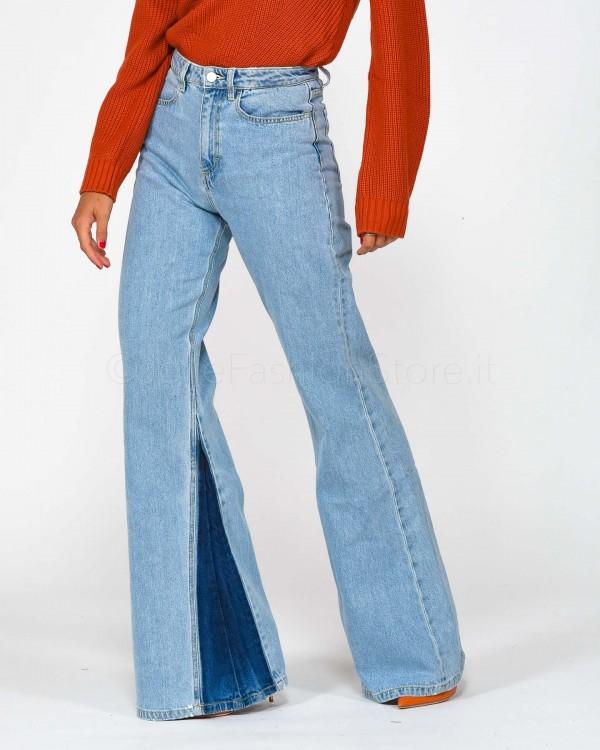 Icon Denim Jeans a Zampa  AMY-ID307