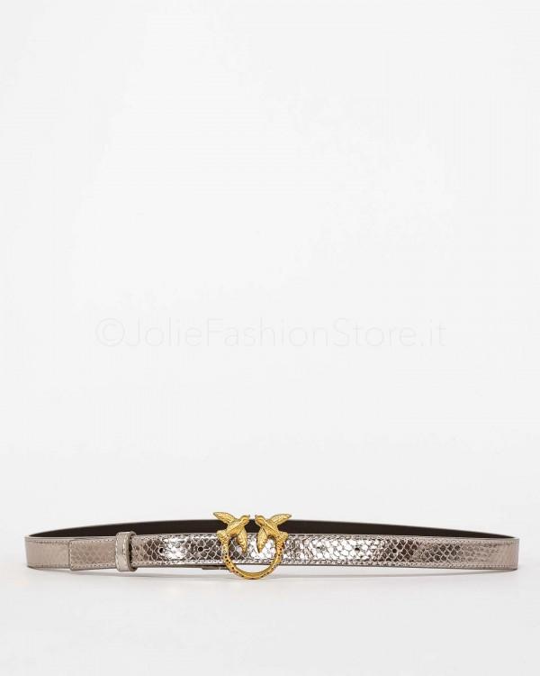 Pinko Cintura Love Mirror Argento Vita Regolare  1H20X0-Y7GB-GU9