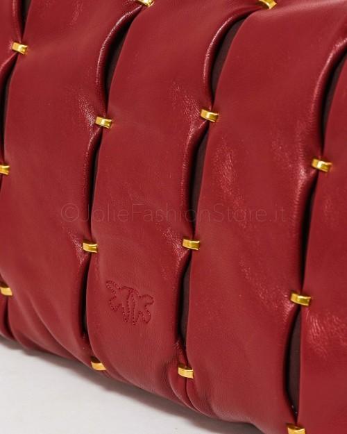 Pinko Love Classic Puff Pinched Rosso Cuoio  1P22E6-Y7HX-R44